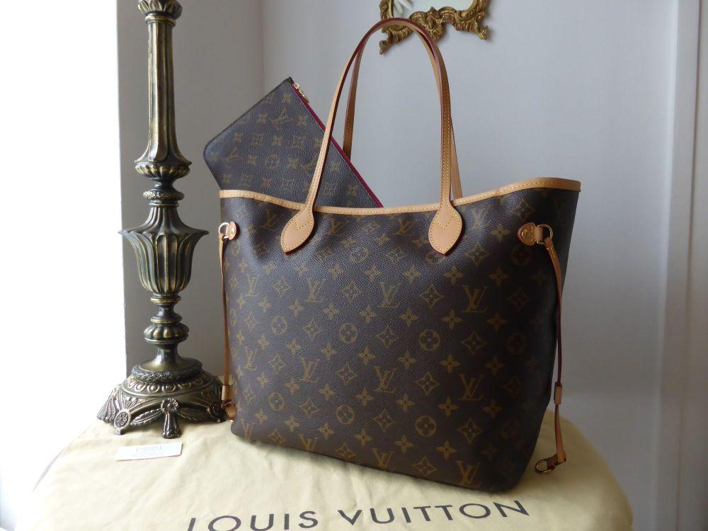 Louis Vuitton Neverfull MM Monogram Pivoine Lining & Zip Pouch