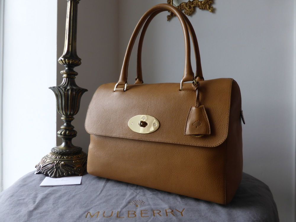 Mulberry Del Rey (Larger Sized) in Deer Brown Grainy Print Leather