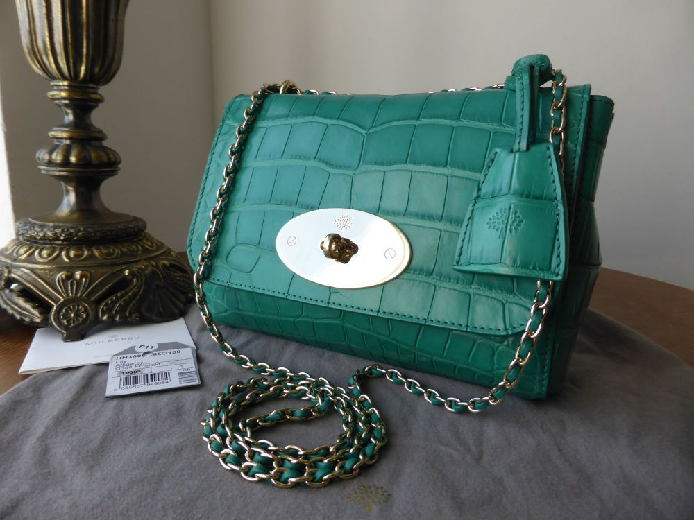 Mulberry Lily in Emerald Alligator Leather - As New*