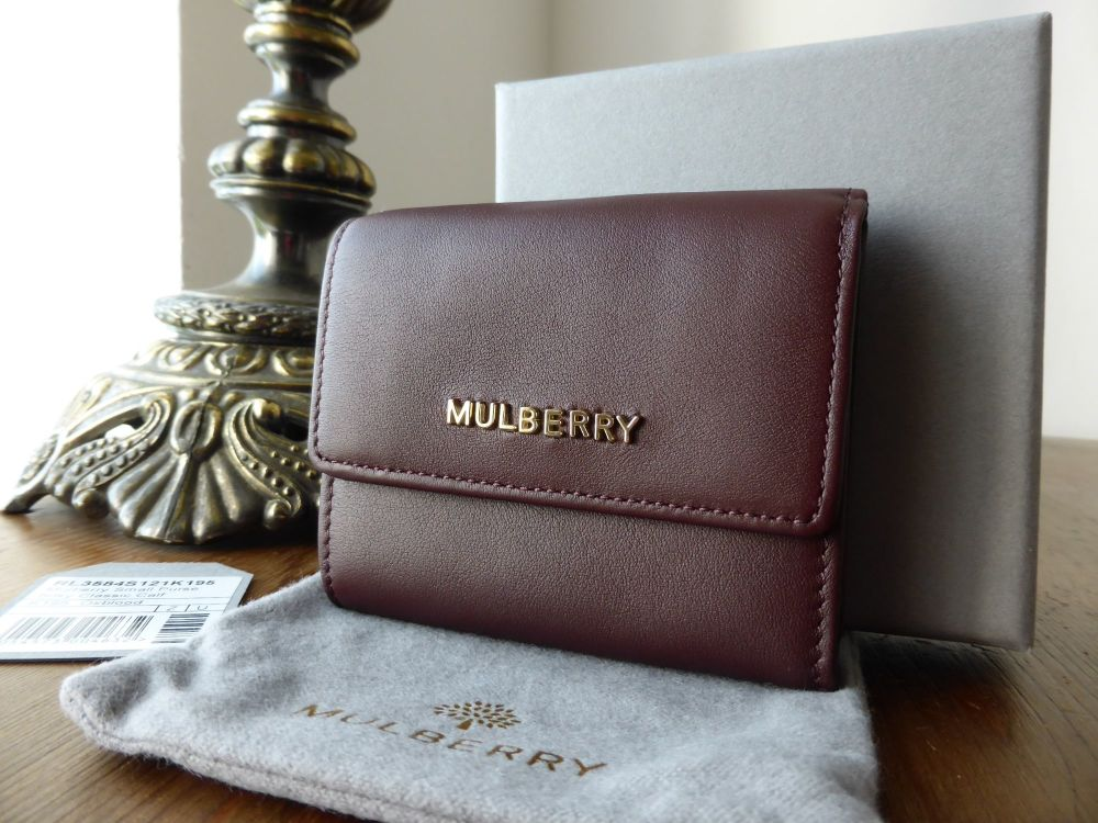 Mulberry Small Purse in Oxblood Silky Classic Calf - New