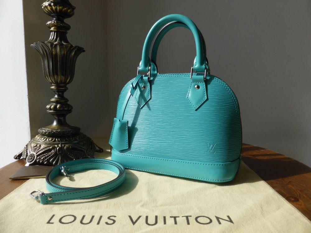 Louis Vuitton Alma BB in Turquoise Epi Leather - New
