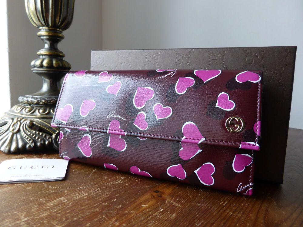 Gucci Heartbeat Continental Zip Around Wallet