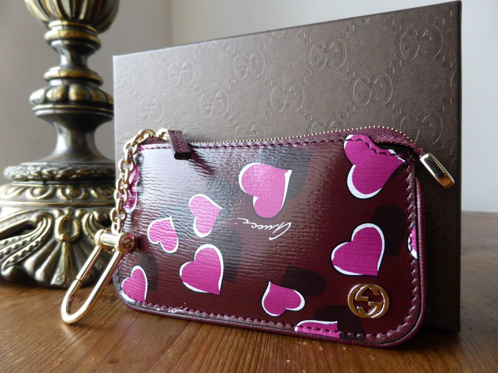 Gucci Heartbeat Zip Key Pouch - As New
