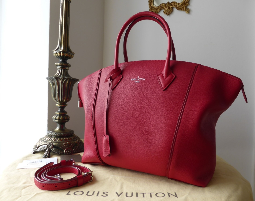 Louis Vuitton Lockit MM Veau Cachemire Framboise - New