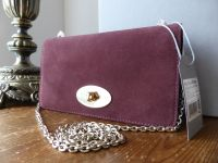 Mulberry Bayswater Clutch WOC in Oxblood Suede  - New