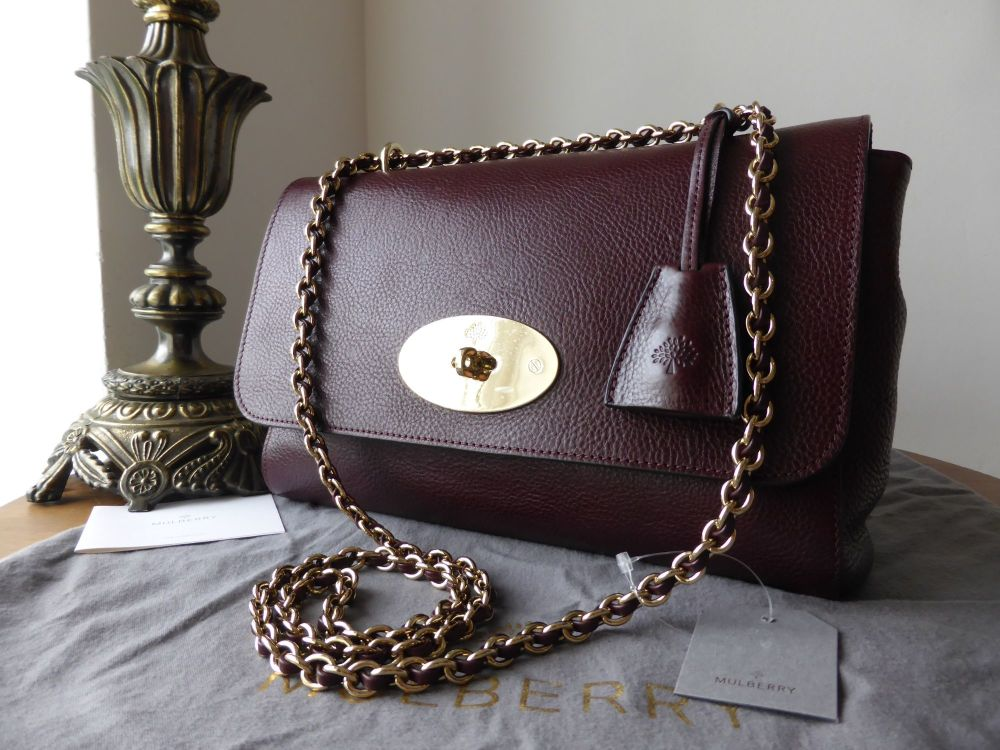 Mulberry Lily Medium in Oxblood Natural Leather - New