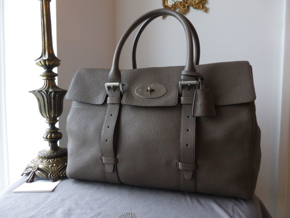 Mulberry Oversized Bayswater in Grey Soft Grey Leather