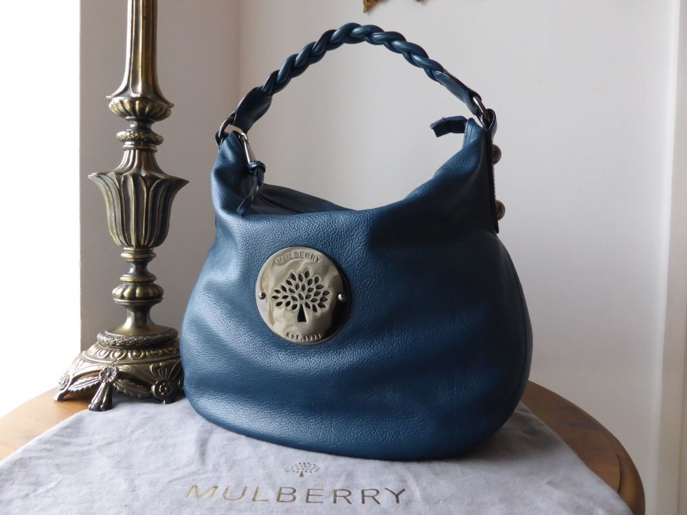 Mulberry Medium Daria Hobo in Petrol Soft Spongy Leather
