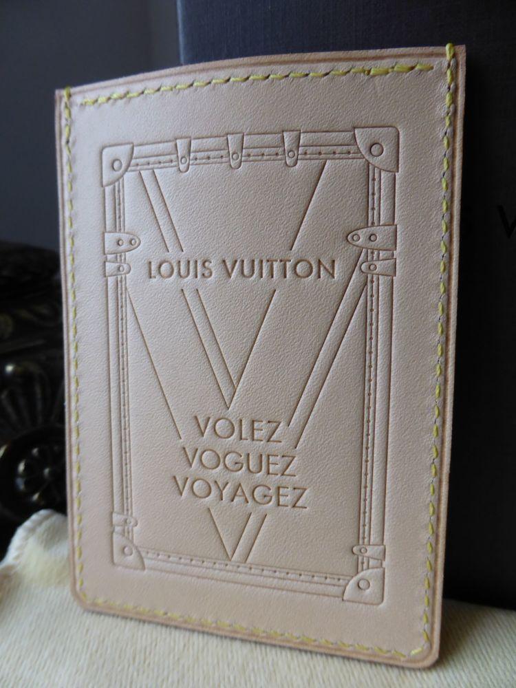 Louis Vuitton Volez Voguez Voyagez Vachette Card Holder Sleeve - New