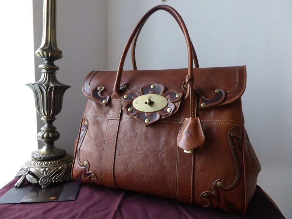 Mulberry Bayswater in Vintage Tooled Oak Darwin Leather