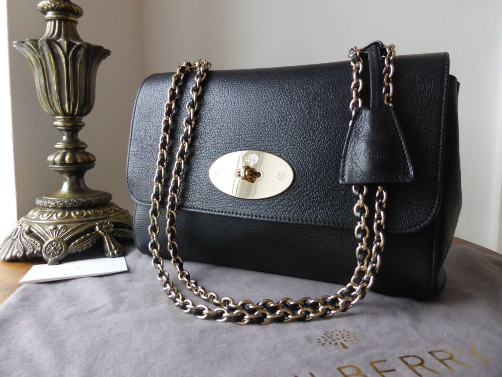 4ecd6a6c01 ... reduced mulberry lily medium in black glossy goat with soft gold  hardware sold 4f546 4ebb3
