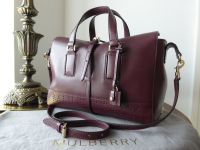Mulberry Perforated Roxette Small in Oxblood Flat Calf - New*