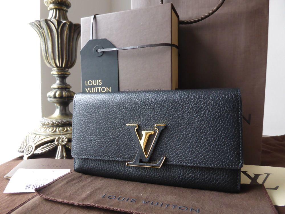 Louis Vuitton Capucines Wallet in Taurillion Noir & Grenade - New*