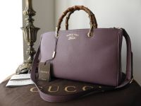 Gucci Bamboo Leather Tote Medium in Lilac  - New*