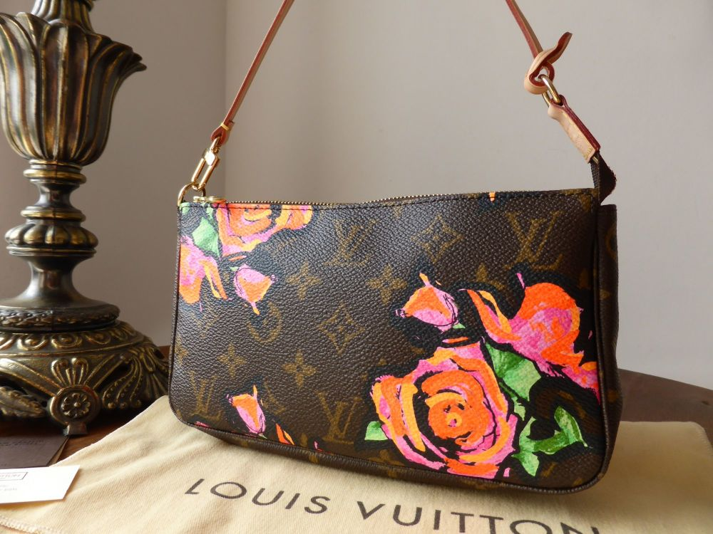 Louis Vuitton Limited Edition Monogram Roses Pochette Stephen Sprouse - Ne