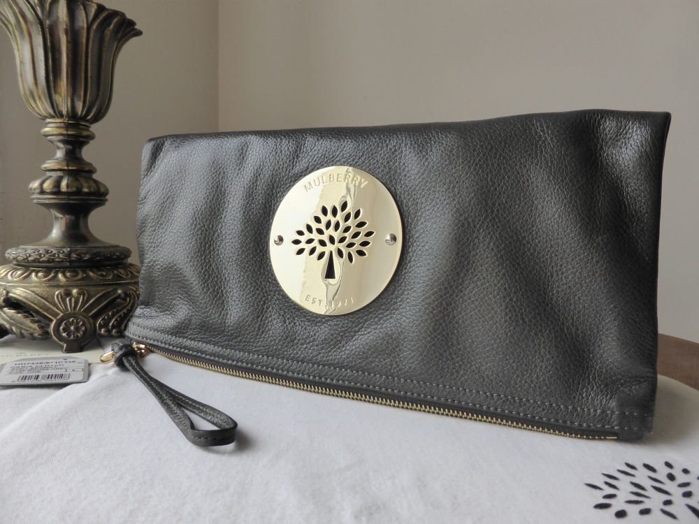 Mulberry Daria Clutch in Mouse Grey Soft Spongy Leather