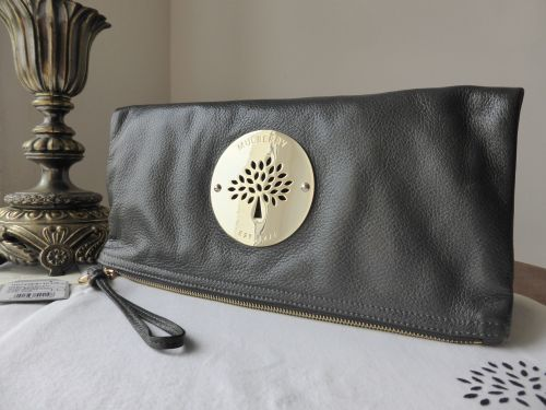 413510b14024 Mulberry Daria Clutch in Mouse Grey Soft Spongy Leather - SOLD