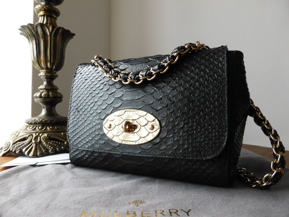 Mulberry Cecily in Dark Metallic Fur Printed Leather