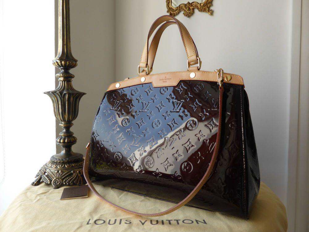Louis Vuitton Brea GM in Amarante Vernis