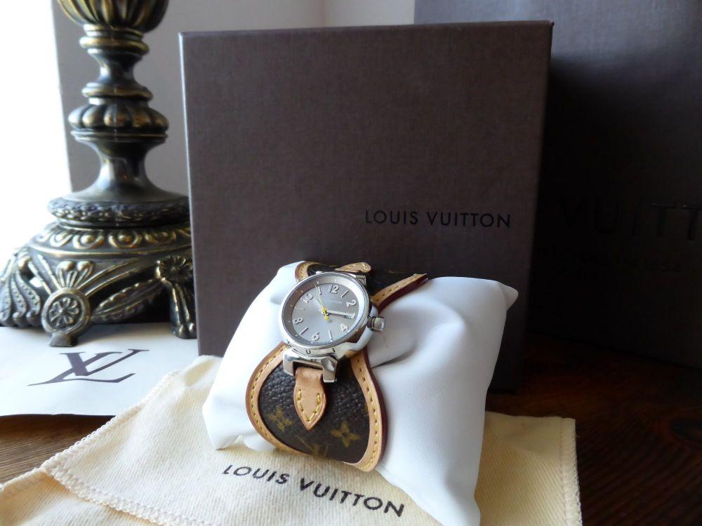 Louis Vuitton Ladies Tambour Monogram Quartz Watch