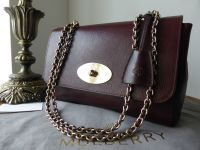 Mulberry Lily Medium in Oxblood Natural Leather - New*