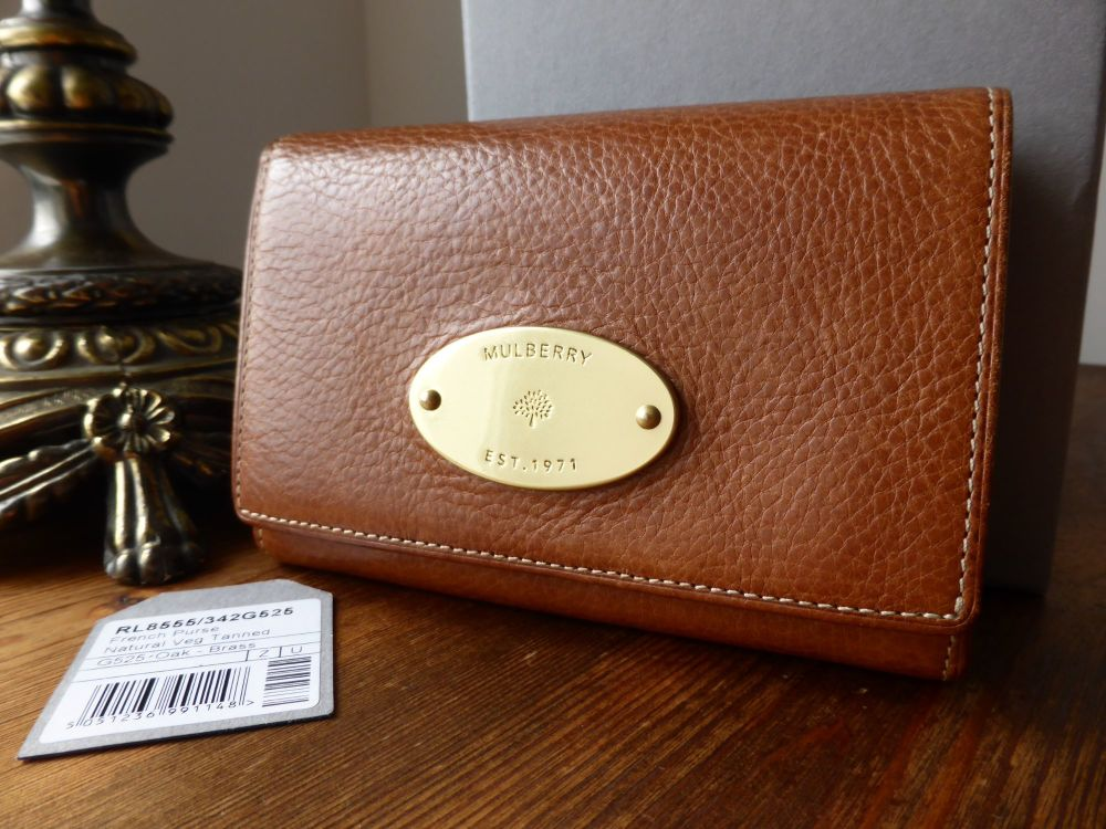 Mulberry French Purse in Oak Natural Leather