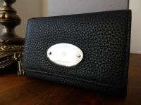 Mulberry French Purse in Black Soft Grain Leather with Silver Nickel Hardware - New