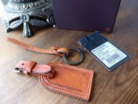 Mulberry Luggage Address Tag in Ginger Darwin Leather