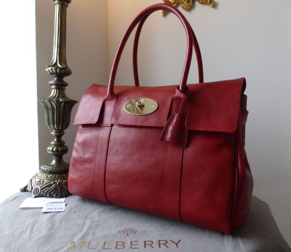 Mulberry Bayswater in Poppy Red Natural Leather