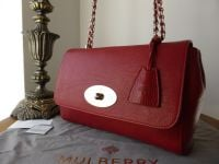 Mulberry Lily Medium in Poppy Red Natural Leather - New*