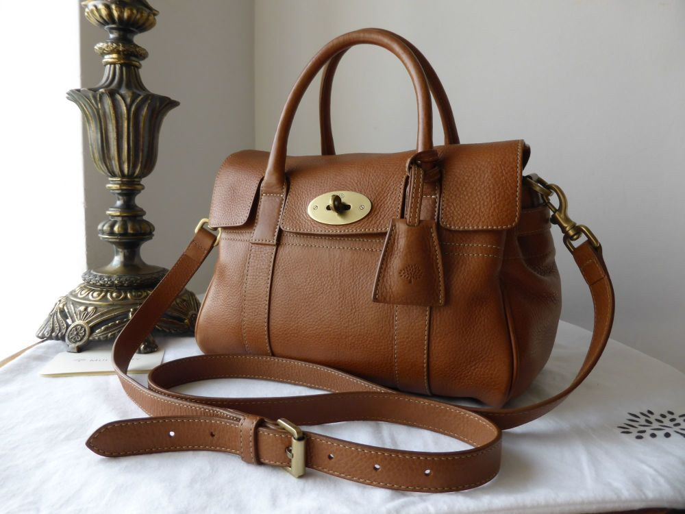 Mulberry Small Bayswater Satchel in Oak Natural Leather