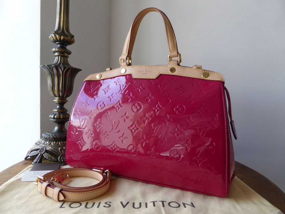 Louis Vuitton Brea MM in Rose Indien Vernis - New