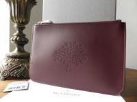 Mulberry Blossom Pouch in Oxblood Calf Nappa - New