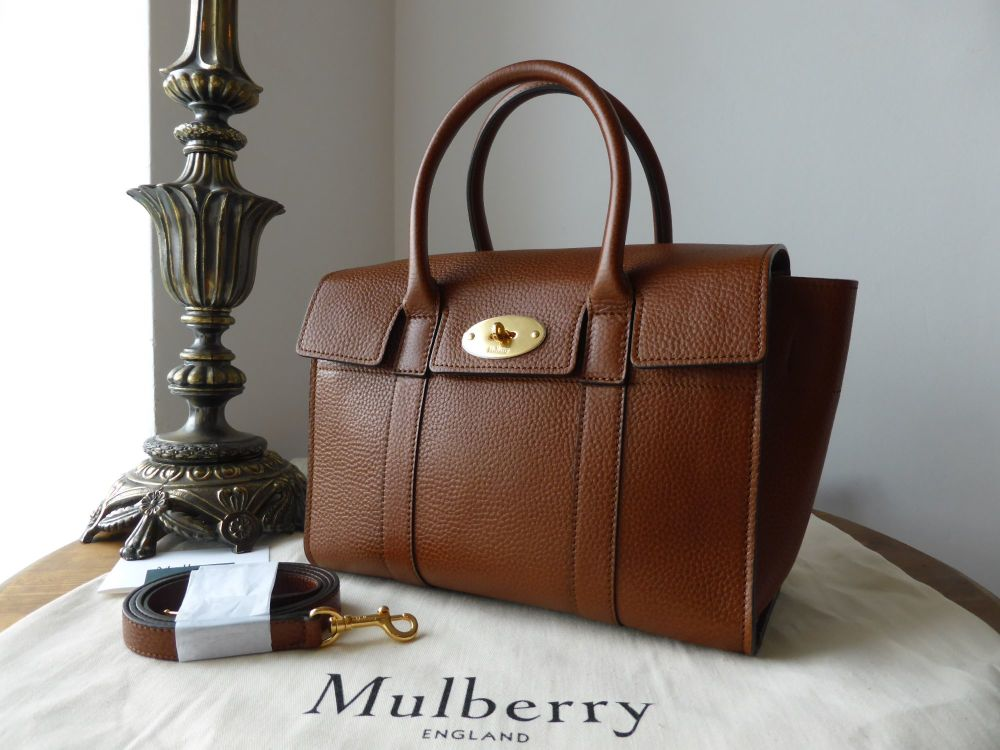 Mulberry Small New Bayswater in Oak Natural Grainy Leather - New