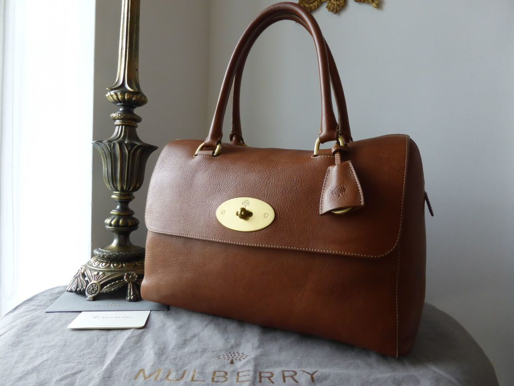 Mulberry Del Rey (Larger Sized) in Oak Natural Leather