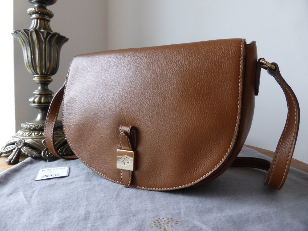 Mulberry Tessie Satchel in Oak Soft Small Grain Leather