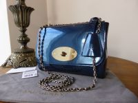 Mulberry Lily (Regular Size) in Midnight Blue Mirror Metallic Leather - New