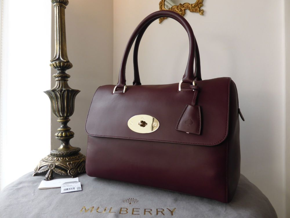 Mulberry Del Rey (Larger Sized) in Oxblood Silky Nappa Leather - New*
