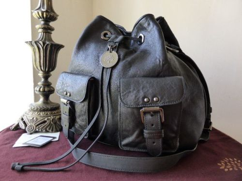 Mulberry Leah Messenger in Black Lambskin Plonge with Dark Silver Nickel  Hardware - SOLD c7564a5408494