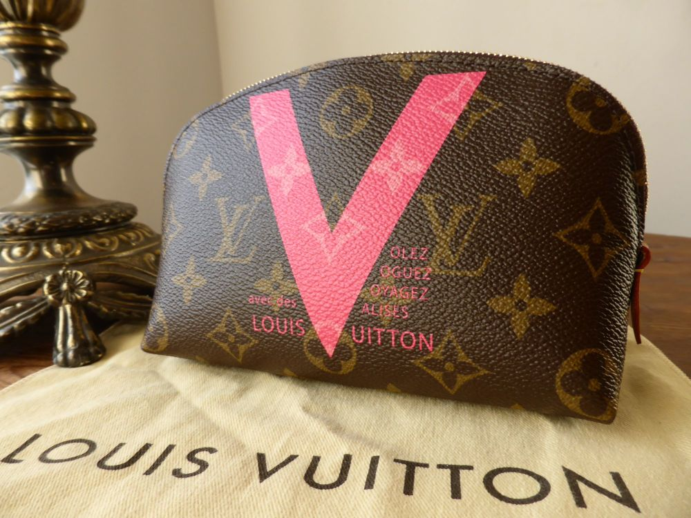 Louis Vuitton Cosmetic Pouch in Monogram Grenade Pink V Limited Edition