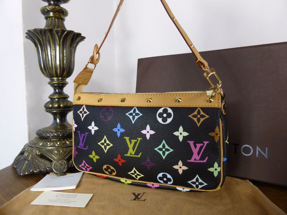 Louis Vuitton Pochette in Monogram Multicolore Noir