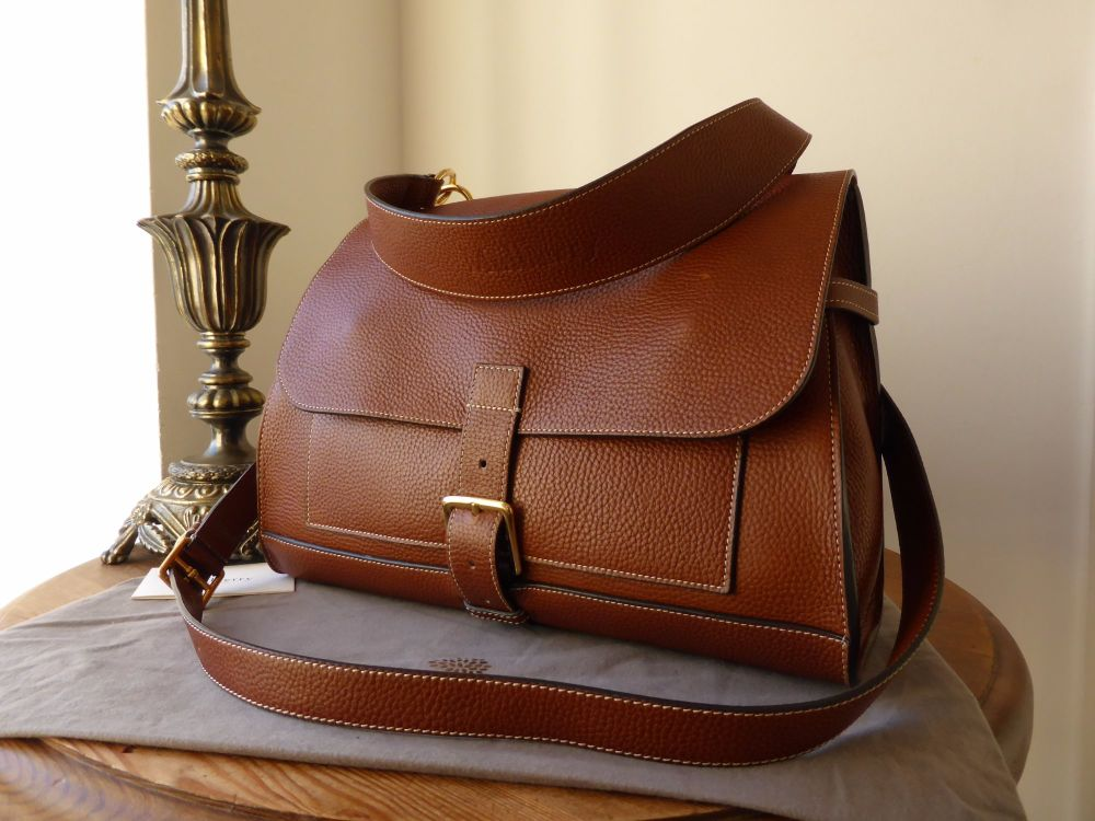 Mulberry Chiltern Satchel in Oak Grain Vegetable Tanned Leather