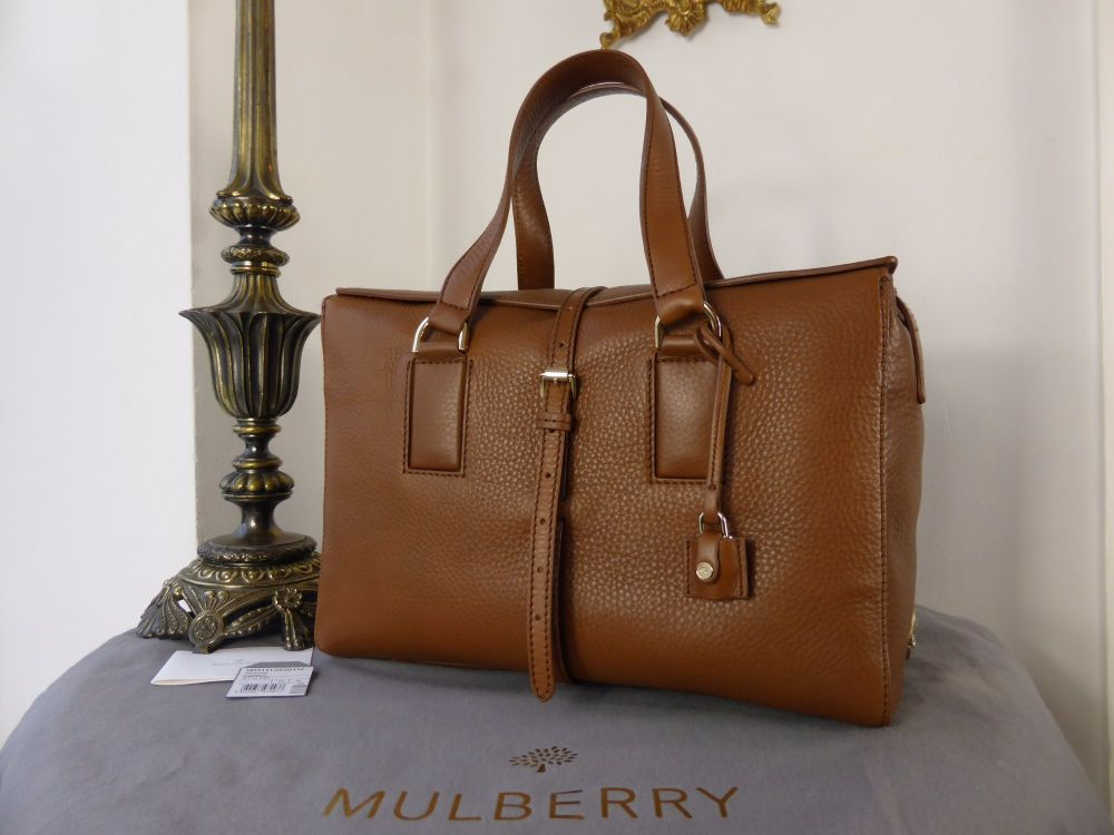 Mulberry Roxette (Larger Sized) in Oak Calfskin - New