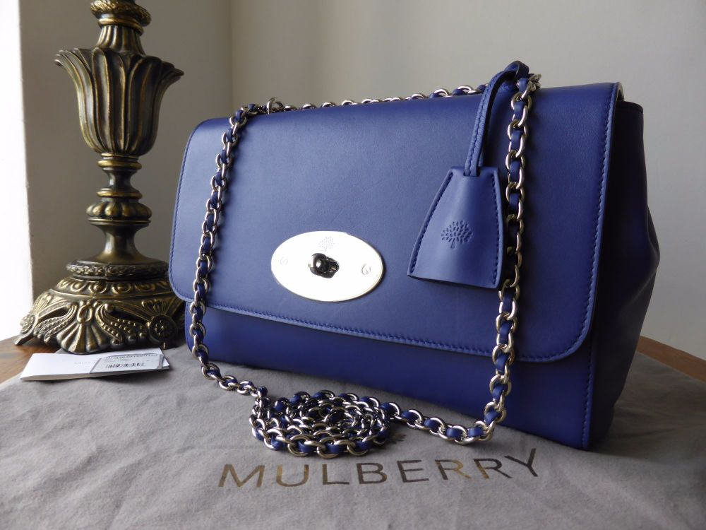 Mulberry Lily Medium in Indigo Lamb Nappa - As New