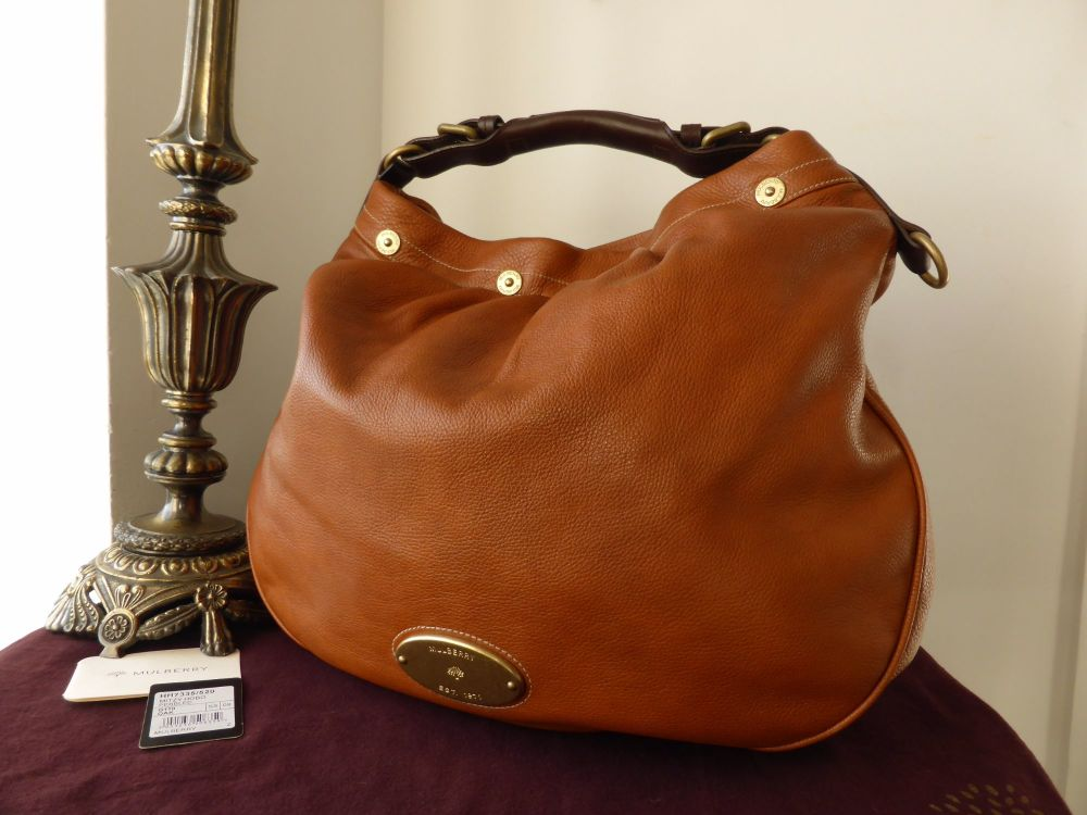 Mulberry Mitzy Large Hobo in Oak Pebbled Leather