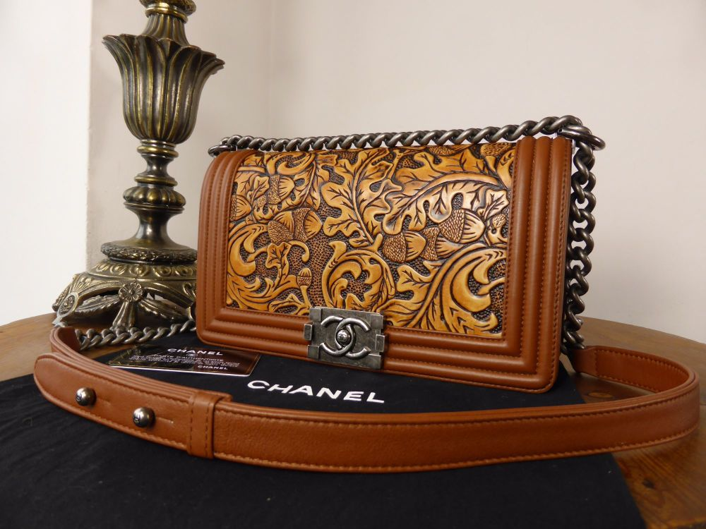 Chanel Small Cordoba Boy in Tooled Calfskin with Ruthenium Hardware