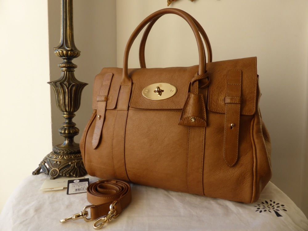 f38f1b60d2 Mulberry Heritage Bayswater in Fudge High Pebbled Matte - SOLD