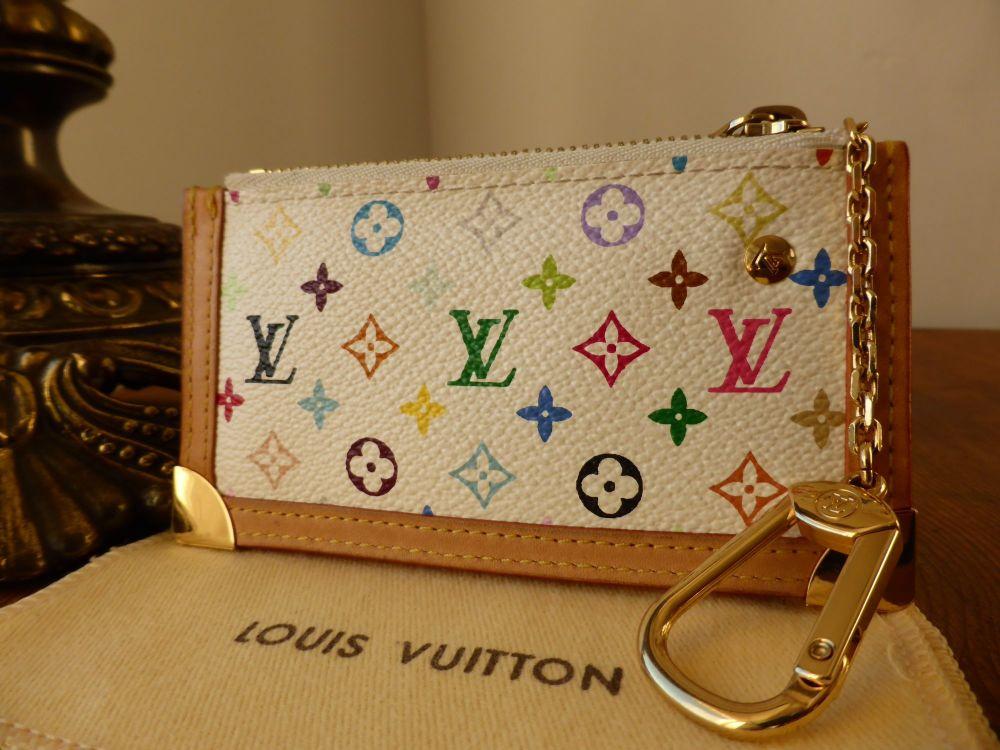 Louis Vuitton Porte-Clefs Pouch in White Multicolore