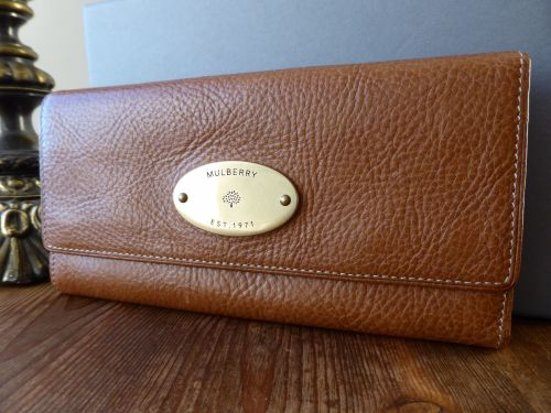 0e7cb3164e ... official mulberry continental purse in oak natural leather sold b15ff  1d1d2