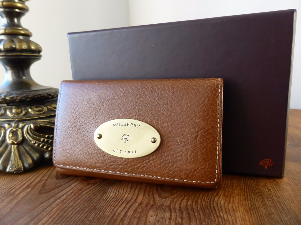 Mulberry Coin / Card Purse in Oak Natural Leather